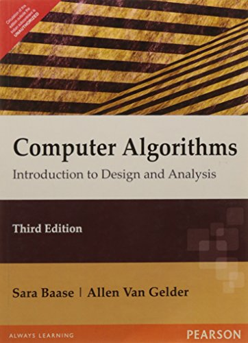 Computer Algorithms: Introduction to Design & Analysis, 3e