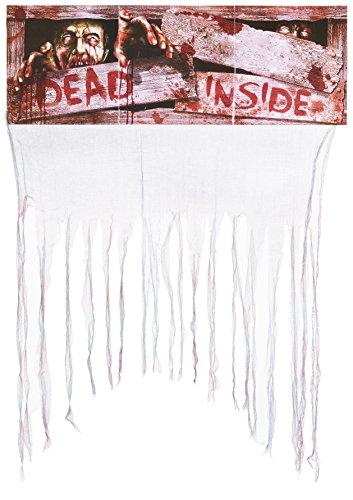 Heitmann Deco Halloween blutiger Tür-Vorhang mit der Aufschrift Dead Inside - gruselige (Kostüme Out Inside Erwachsene)