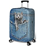 Hbwz 3D Kitten Travel Luggage Cover Valise Case Protector Elastic Cover Appliquer...
