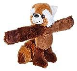 Wild Republic Abbracciatore Slap bracciale di peluche, regali per bambini, Panda rosso di peluche, 20cm