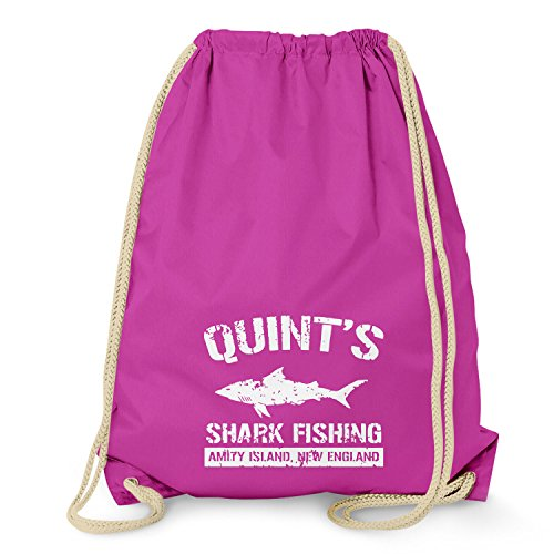 Texlab Quint's Shark Fishing - Turnbeutel, fuchsia