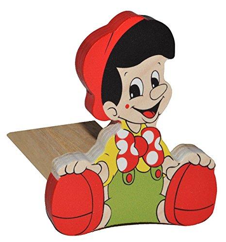Preisvergleich Produktbild Türstopper / Fensterstopper / Unterlegkeil - aus Holz - Pinocchio - kleiner Junge - Türkeil / Klemmschutz / Türpuffer / Holztürstopper - Kinderzimmer - Tür - für Kinder / Jungen / Mädchen / Baby - Märchen lustig