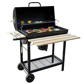 Bbq Toro Holzkohle Grillwagen Premium Holzkohlegrillwagen Smoker Barbecue Grill Mit Deckel Warmhalterrost Abklappbarer Ablage Und Vielem Mehr