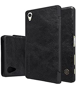 Zocardo TM© QIN Series Genuine Flip Wallet Leather Case for OnePlus X - Black