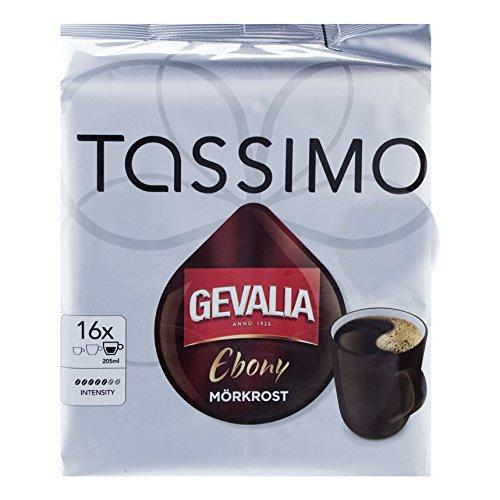 Tassimo Gevalia Ebony, Vollmundig & Intensiv, Kaffee, Kaffeekapsel, Röstkaffee, 16 T-Discs / Portionen (T-discs Gevalia Kaffee)