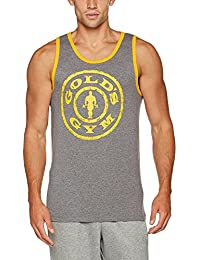 Golds Gym Muscle Joe Contrast Athlete Tank Top 100% Baumwolle