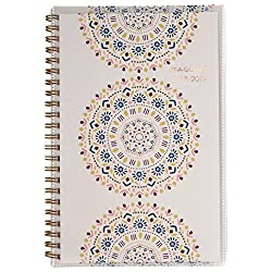 """AT-A-GLANCE Academic Weekly/Monthly Planner, July 2018 - June 2019, 4-7/8"""" x 8"""", Customizable, Santiago (1110-201A)"""