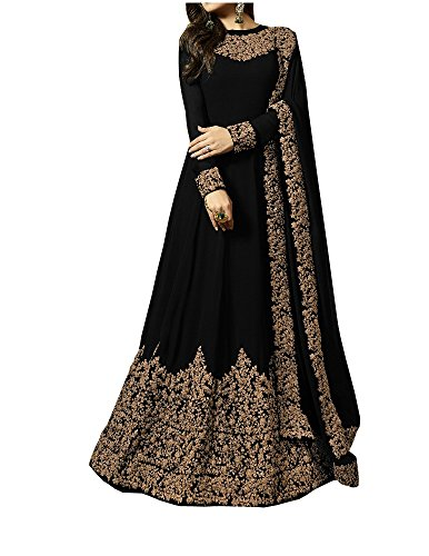 Ruri Enterprise Women's Fashion Georgette New Anarkali Salwar Suit (Ruri Enterprise New_LT_Free Size)