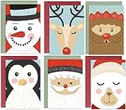 Julhälsningskort, 48 x återvunnet