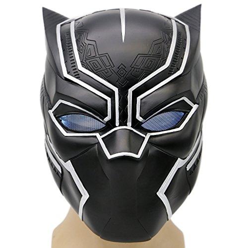 Schwarz Maske Kostüm Deluxe Halloween Erwachsene Weiches Harz Kopf Voller Helm Cosplay mit (Kostüme Cosplay America Captain)
