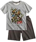 Tortues Ninja Pyjama Court Enfant Garçon Gris DE 6 à 12ans (10 Ans)