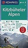 Kitzbüheler Alpen: 5in1 Wanderkarte 1:50000 mit Aktiv Guide, Detailkarten und Panorama inklusive Karte zur offline Verwendung in der KOMPASS-App. ... Skitouren. (KOMPASS-Wanderkarten, Band 29)