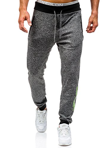 BOLF – Pantaloni sportivi – Jogging – Sport – Training – Motivo – Uomo [6F6] Nero