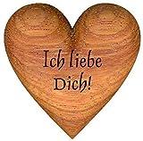 Handschmeichler, Herz aus Holz ''Ich liebe Dich!''