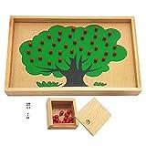 Sharplace Montessori Mathe Apfelbaum Zählen Rechnen Lernspiel Spielzeug für Kinder