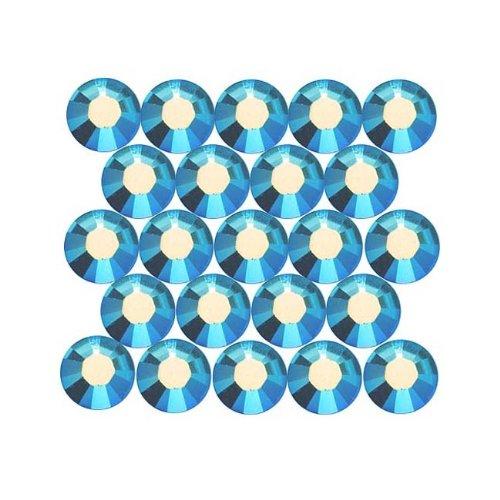 SWAROVSKI ELEMENTS 2028 Strassstein, flache Rückseite, Kristallgröße SS20, Light Sapphire, 50 Stück -