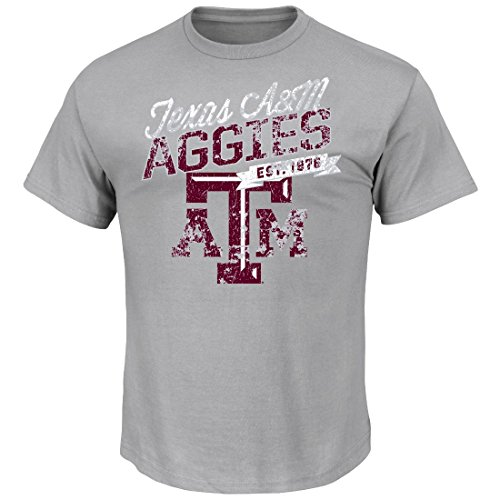 "Texas A&M Aggies Majestic NCAA ""Easy Does It"" Men's S/S T-Shirt Camicia"