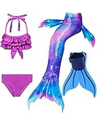 ShePretty Traje de Baño Sirena de Las Muchachas Bikini Set
