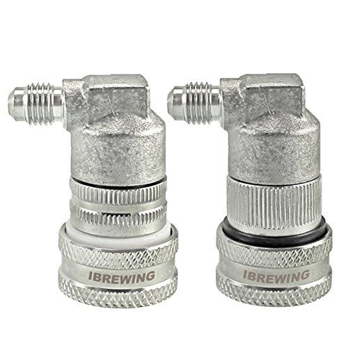 iBrewing 1 Paar Edelstahl Kugelschloss Trennschloss Gas & Flüssigkeit für Cornelius Typ Fass MFL - Gas-ball