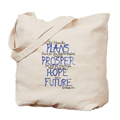 CafePress–Jeremiah 29: 11–Leinwand Natur Tasche, Reinigungstuch Einkaufstasche Tote S khaki