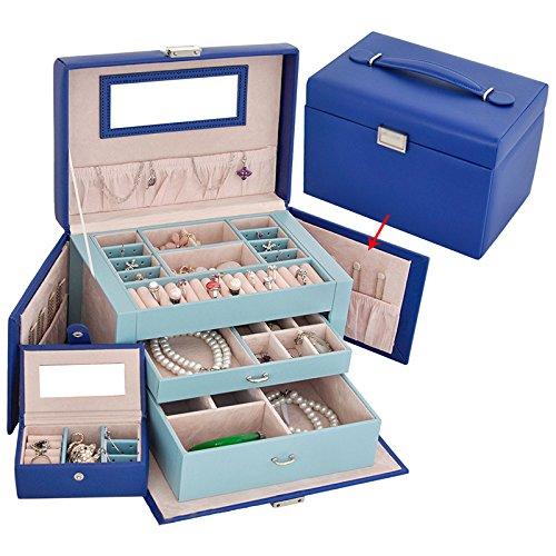 XCF WLQ Jewelry Box - Kosmetik-Aufbewahrungsbox - Kosmetik-Etui - Schmuck Organizer - Hochzeit Freundin Geburtstagsgeschenk,B,Schmuckkästchen (Dia-box Organizer)