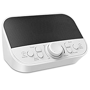 White Noise Machine, LATOW Sleep Sound Machine with 6 Soothing Natural Sounds/ 4 Timer Mode for Sleep-Aid, Power-Napping, Suitable for Baby, Senior, Insomnia Therapy and Tinnitus Patient in Home, Bedroom, Hotel, Office