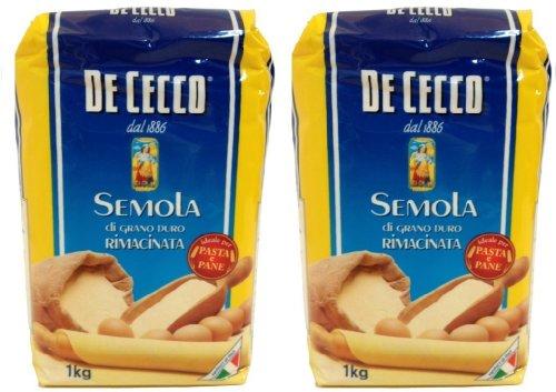 farina di grano duro De Cecco - Hartweizengrieß - 1 kg Beutel - Semola di grano duro rimacinata 2 x 1 Kg