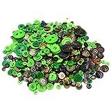 MoGist 660 bottoni semplici rotondi per bambini adesivi fai da te fatti a mano creativi materiali di produzione, Gemischte Farbe, 7-28MM