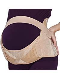 Ceinture de maternité, soutien lombaire et abdominal lors de la grossesse, pour femme enceinte, large support au bas du dos - Marque NEOtech Care (TM ) - Couleur Beige