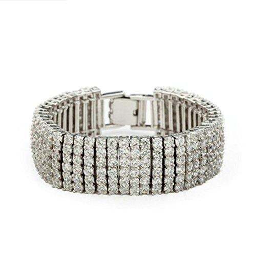 Entlastung Von Augen (Daesar Vergoldet Armband Damen Bettelarmband für Damen Weiß Armband Zirkonia Armband für Damen Länge:17CM)