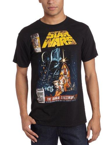 Old Glory Star Wars - Mens Saga Continues Soft T-shirt - X-Large Black