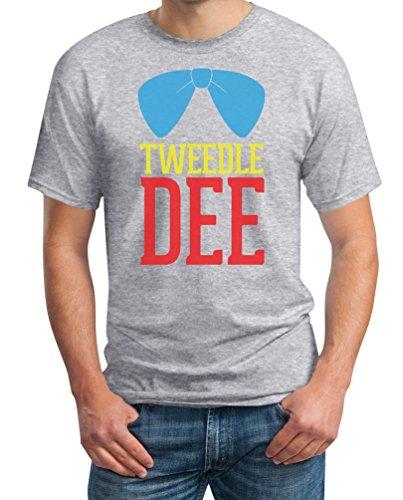 Tweedledee Zwiedeldei Tweedledum Zwiedeldum Kostüm Grau XX-Large T-Shirt - Wunderland Wonderland (Wunderland Im Kostüm Männer Alice)