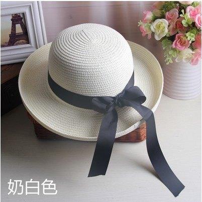 Summer straw hat Sun Hats The Korean version of the Visor Beach Cap Summer sunscreen The collapsible hat