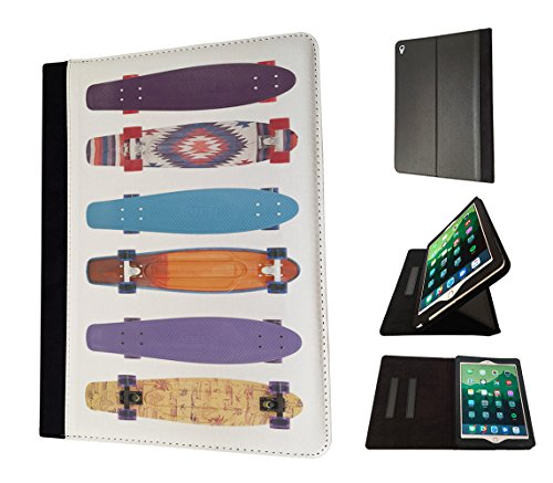 Preisvergleich Produktbild 003136 - Colourful penny boards Skateboard Design Apple ipad Air 1 -2014 TPU Leder Brieftasche Hülle Flip Cover Book Wallet Stand halter Case