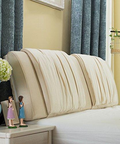 LIANGJUN Tuch Unterstützung Bedside Kissen Bett Kopf Kissen Soft Bag Lesung Rückenlehne Kopfteil Kissen-General - Twin Size/Full Size/Queen Size/King Size (Farbe : 5*, größe : 150 * 15 * 58cm)