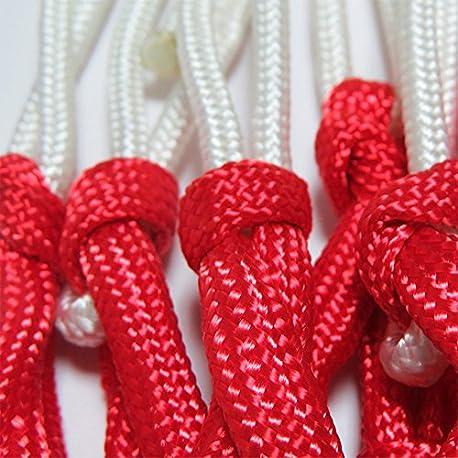 soccik Baloncesto Red Colores Red para canasta de baloncesto cesta para red ball 3 colores extra grueso 2 unidades