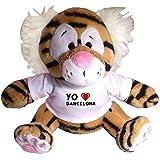"""Tigre de juguete de peluche con camiseta con estampado de """"Te quiero"""" Barcelona (ciudad / asentamiento)"""