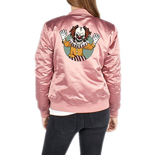 Evil Clown Bomberjacke Girls Rosa Certified Freak-XS