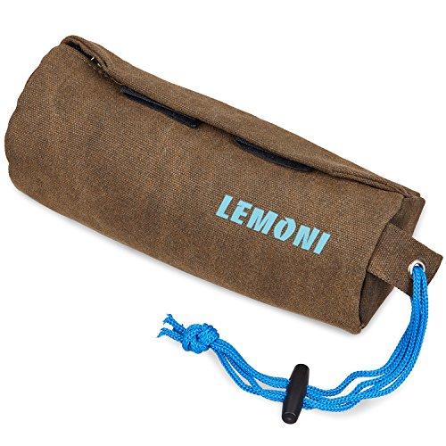 LEMONI Hunde-Futterdummy / Trainingsdummy für Leckerlies und Hundesnacks, ideal fürs Apportier-Training inklusive 2 Jahren Geld-zurück-Garantie - Futterbeutel / Leckerlie-Beutel /Snack Dummy