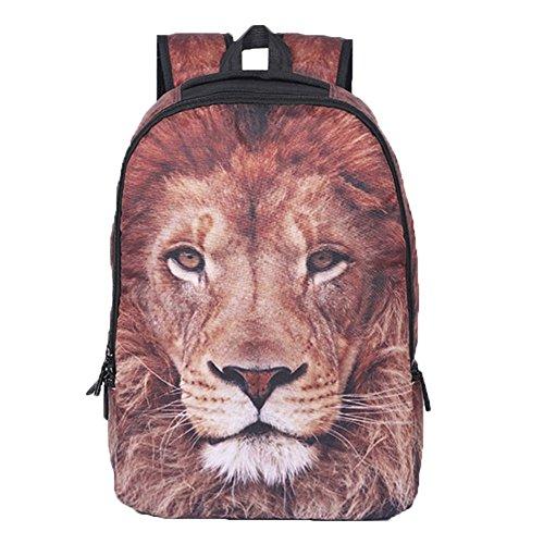 Ohmais Rücksack Rucksäcke Rucksack Backpack Daypack Schulranzen Schulrucksack Wanderrucksack Schultasche Rucksack für Schülerin lion