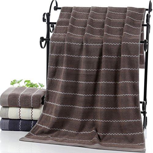 Toalla de baño algodón, Agua corrugado impresión toalla, Stomacher agua espesada, Baño hotel toalla-A