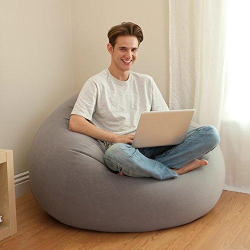 Intex Beanless Bag Inflatable  Chair,  Grey