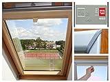 Dachfensterrollo für Velux Dachfenster GGL, GPL, GHL,Verdunkelungs Rollo (P06, Silber (Holzfenster))