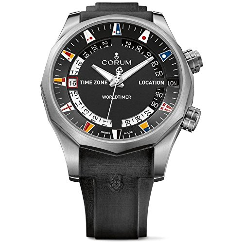 Corum Admiral s Cup Legend 47 Worldtimer Homme 47mm Noir Automatique Montre 637.101.04/F371 AN02