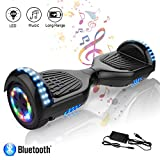 COLORWAY Hoverboard 6.5 Pouces avec Roues Flash LED Multicolores, 700W Gyropode Bluetooth, Scooter...
