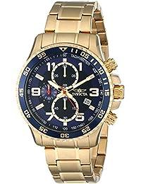 Invicta 14878 - Reloj de cuarzo para hombre, con correa de acero inoxidable, color dorado/azul