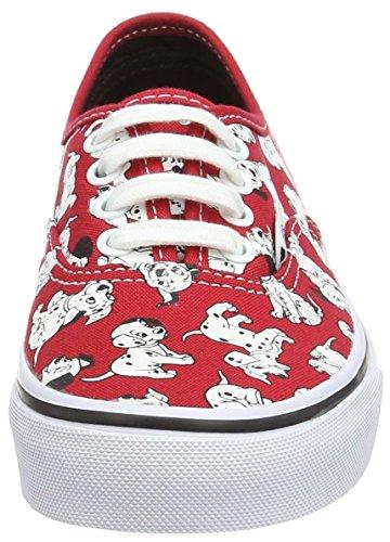 Vans Authentic, Baskets Basses mixte enfant Rouge (Disney/Dalmatians/Red)