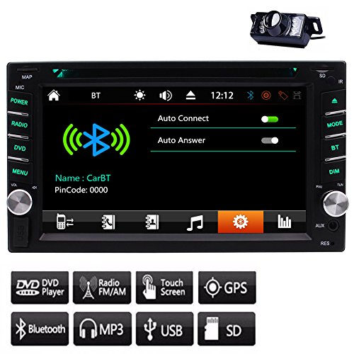 GPS EinCar kapazitives Touchscreen Autoradio BT Audio Auto-Radiosystem Audio PC Auto 1080p Video-Receiver In Dash CD DVD-Player Doppel-DIN-Head Unit Subwoofer AMP + 8GB SD Karte Card + Fernbedienung + Back-up-Kamera Mp3-player-w Sd-card