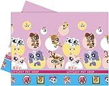 Littlest Pet shop Plastic table cover (120 x 180cm) for a party