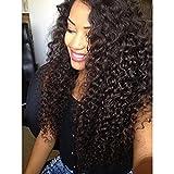 Ugeat Remy Clip in Haarverlängerungen Kinky Curly Human Hair Extensions 4# Dark Brown Brazilian Virgin Human Hair Extensions
